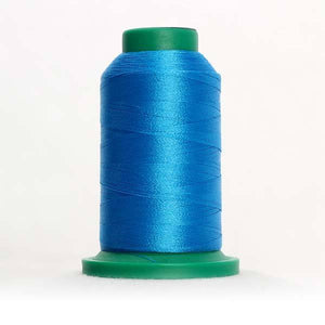 Isacord 1000m/1100yd 40wt solid trilobal polyester thread  number 3906 Pacific Blue