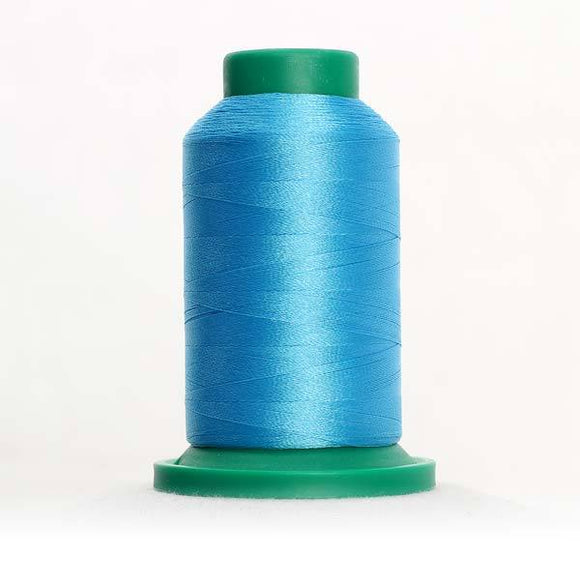 Isacord 5000m/5500yd 40wt solid trilobal polyester thread  number 3910 Crystal Blue