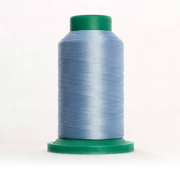 Isacord 5000m/5500yd 40wt solid trilobal polyester thread  number 3951 Azure Blue