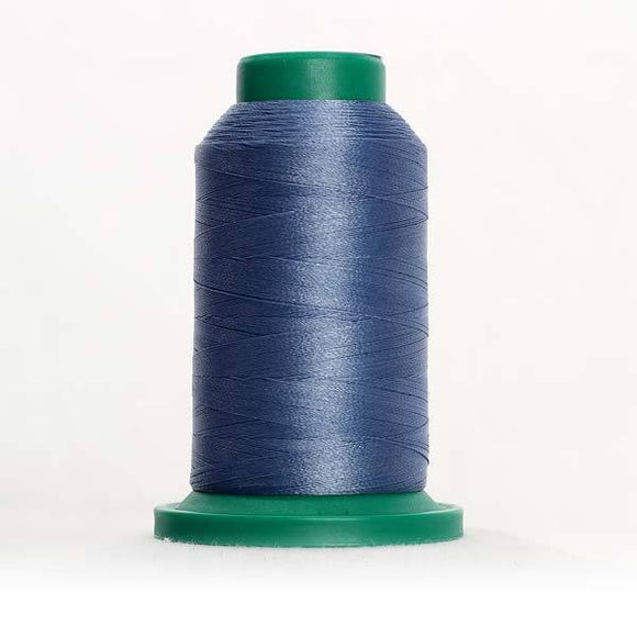 Isacord 5000m/5500yd 40wt solid trilobal polyester thread  number 3953 Ocean Blue