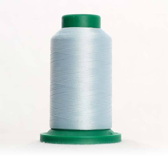 Isacord 5000m/5500yd 40wt solid trilobal polyester thread  number 3963 Hint of Blue