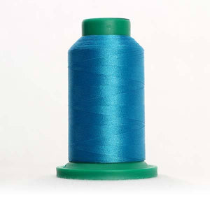 Isacord 5000m/5500yd 40wt solid trilobal polyester thread  number 4010 Caribbean Blue
