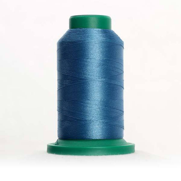 Isacord 5000m/5500yd 40wt solid trilobal polyester thread  number 4032 Teal