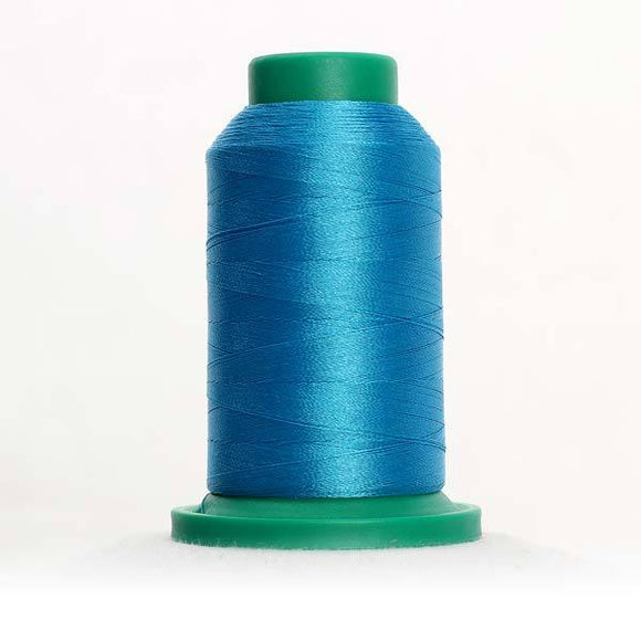 Isacord 5000m/5500yd 40wt solid trilobal polyester thread  number 4101 Wave Blue