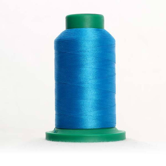 Isacord 5000m/5500yd 40wt solid trilobal polyester thread  number 4103 California Blue