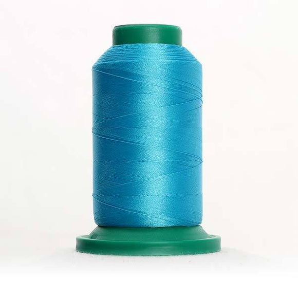 Isacord 5000m/5500yd 40wt solid trilobal polyester thread  number 4111 Turquoise