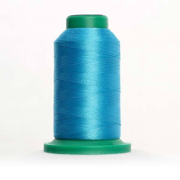 Isacord 5000m/5500yd 40wt solid trilobal polyester thread  number 4113 Alexis Blue