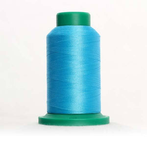 Isacord 5000m/5500yd 40wt solid trilobal polyester thread  number 4114 Danish Teal