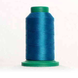 Isacord 5000m/5500yd 40wt solid trilobal polyester thread  number 4116 Dark Teal