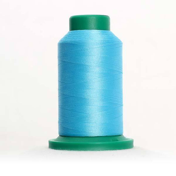 Isacord 1000m/1100yd 40wt solid trilobal polyester thread  number 4122 Peacock