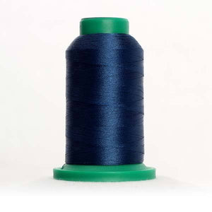 Isacord 5000m/5500yd 40wt solid trilobal polyester thread  number 4133 Deep Ocean