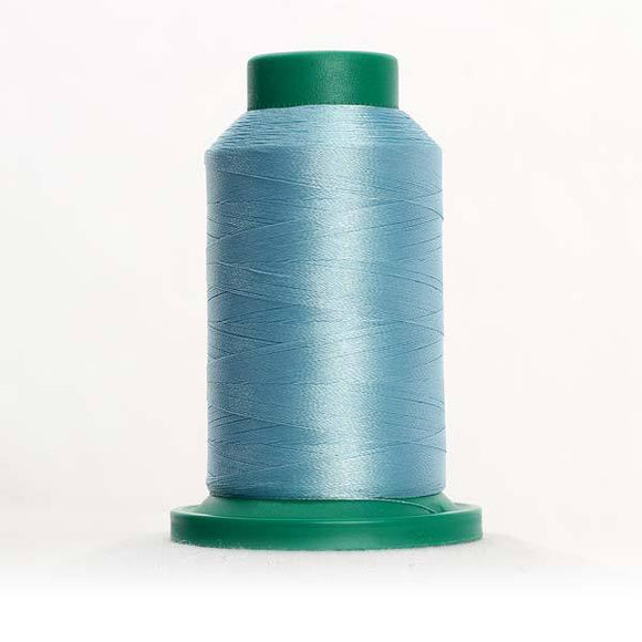 Isacord 5000m/5500yd 40wt solid trilobal polyester thread  number 4152 Serenity