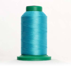 Isacord 5000m/5500yd 40wt solid trilobal polyester thread  number 4220 Island Green