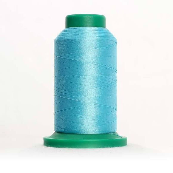 Isacord 5000m/5500yd 40wt solid trilobal polyester thread  number 4230 Aqua