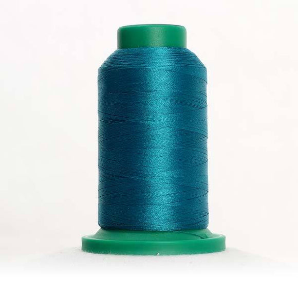 Isacord 5000m/5500yd 40wt solid trilobal polyester thread  number 4410 Aqua Velva