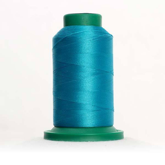Isacord 5000m/5500yd 40wt solid trilobal polyester thread  number 4423 Marine Aqua