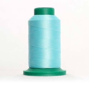 Isacord 1000m/1100yd 40wt solid trilobal polyester thread  number 4740 Aquamarine