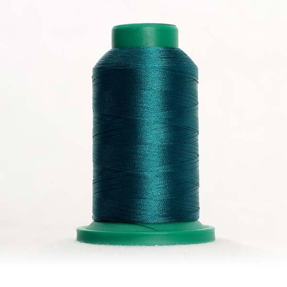 Isacord 5000m/5500yd 40wt solid trilobal polyester thread  number 5005 Rain Forest