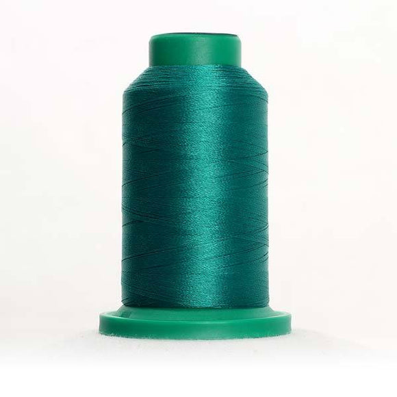 Isacord 5000m/5500yd 40wt solid trilobal polyester thread  number 5100 Green