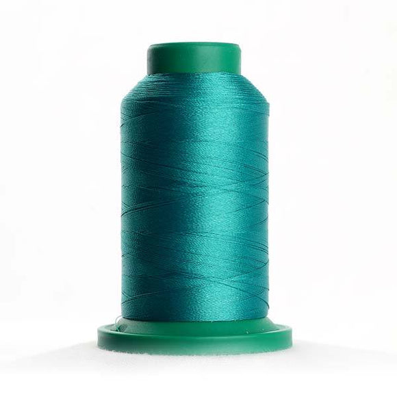 Isacord 5000m/5500yd 40wt solid trilobal polyester thread  number 5101 Dark Jade