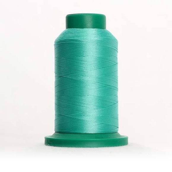 Isacord 5000m/5500yd 40wt solid trilobal polyester thread  number 5230 Bottle Green
