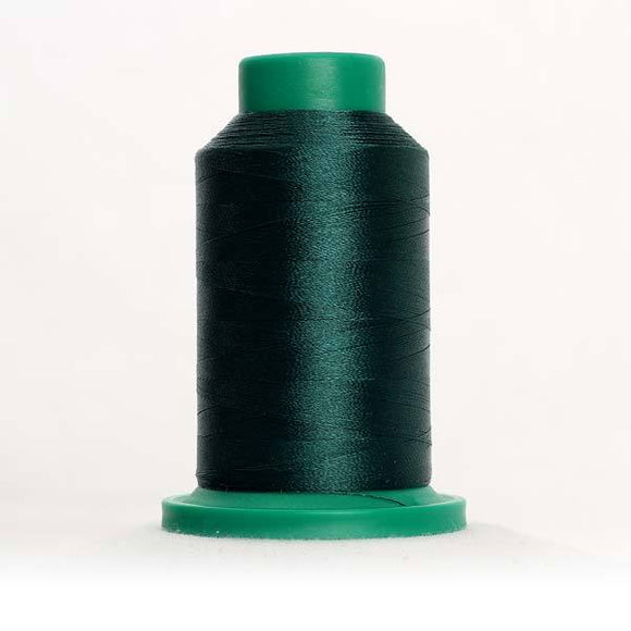 Isacord 5000m/5500yd 40wt solid trilobal polyester thread  number 5326 Evergreen