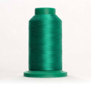 Isacord 5000m/5500yd 40wt solid trilobal polyester thread  number 5411 Shamrock