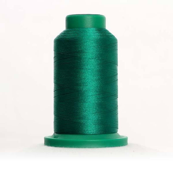 Isacord 5000m/5500yd 40wt solid trilobal polyester thread  number 5415 Irish Green
