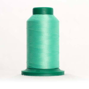 Isacord 5000m/5500yd 40wt solid trilobal polyester thread  number 5440 Mint