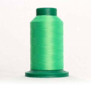 Isacord 5000m/5500yd 40wt neon trilobal polyester thread  number 5500 Limedrop