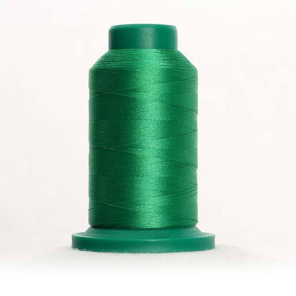 Isacord 5000m/5500yd 40wt solid trilobal polyester thread  number 5510 Emerald
