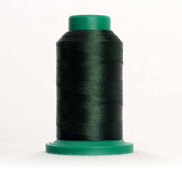 Isacord 5000m/5500yd 40wt solid trilobal polyester thread  number 5555 Deep Green