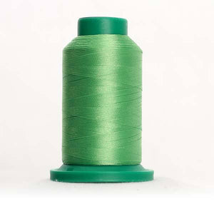 Isacord 5000m/5500yd 40wt solid trilobal polyester thread  number 5610 Bright Mint