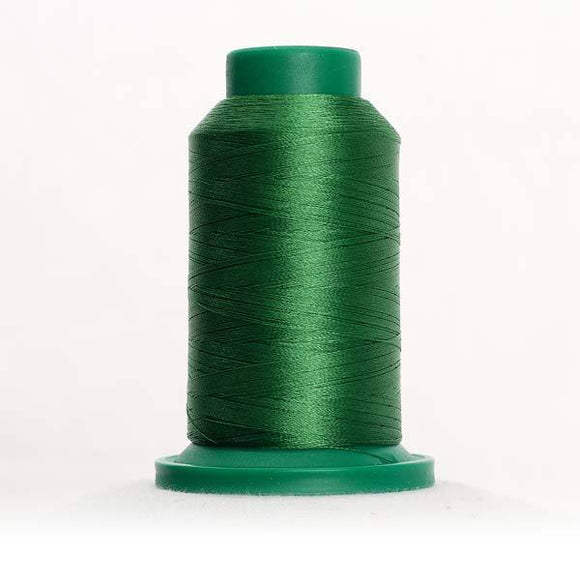 Isacord 5000m/5500yd 40wt solid trilobal polyester thread  number 5633 Lime