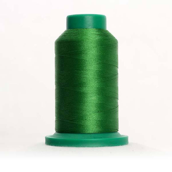 Isacord 1000m/1100yd 40wt solid trilobal polyester thread  number 5722 Green Grass