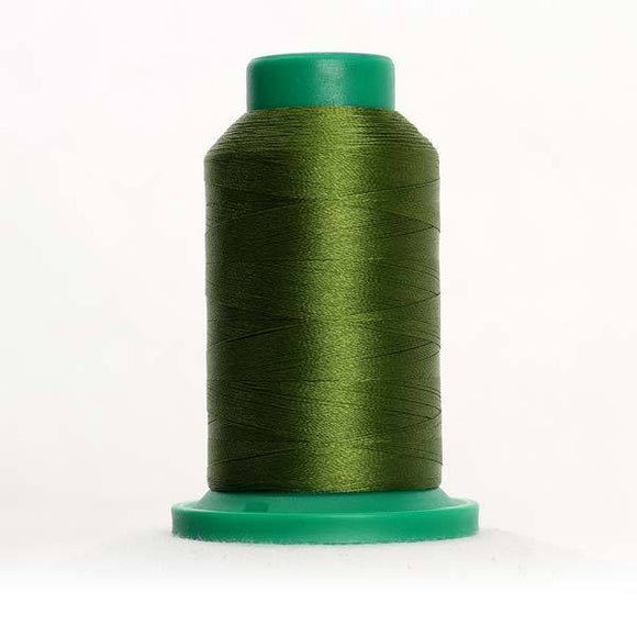 Isacord 5000m/5500yd 40wt solid trilobal polyester thread  number 5934 Moss Green