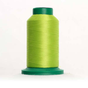 Isacord 5000m/5500yd 40wt solid trilobal polyester thread  number 6031 Limelight