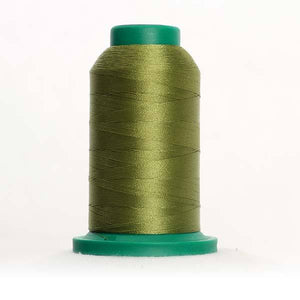 Isacord 1000m/1100yd 40wt solid trilobal polyester thread  number 6043 Yellowgreen