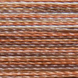 Isacord 1000m/1100yd 40wt variegated trilobal polyester thread  number 9302 Bark