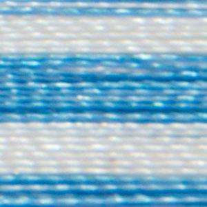 Isacord 1000m/1100yd 40wt variegated trilobal polyester thread  number 9603 The Blues