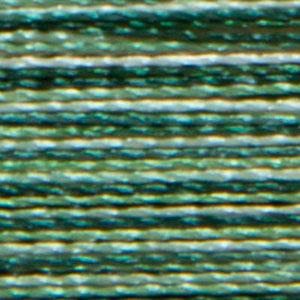 Isacord 1000m/1100yd 40wt variegated trilobal polyester thread  number 9805 Shades of Grass