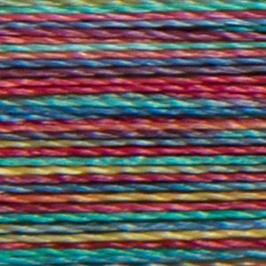 Isacord 1000m/1100yd 40wt variegated trilobal polyester thread  number 9916 Rainbow