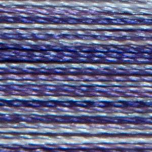 Isacord 1000m/1100yd 40wt variegated trilobal polyester thread  number 9921 Grape Crush