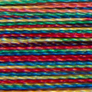 Isacord 1000m/1100yd 40wt variegated trilobal polyester thread  number 9937 Carnival