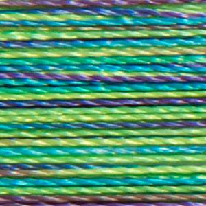 Isacord 1000m/1100yd 40wt variegated trilobal polyester thread  number 9971 Emerald City