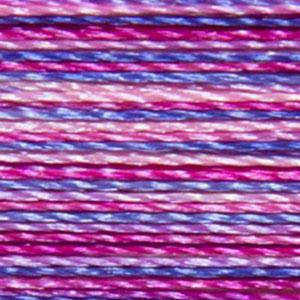Isacord 1000m/1100yd 40wt variegated trilobal polyester thread  number 9973 Summer Peonies
