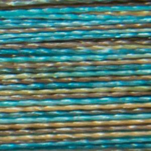 Isacord 1000m/1100yd 40wt variegated trilobal polyester thread  number 9978 Egyptian Turquoise