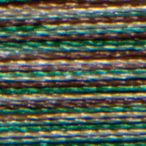 Isacord 1000m/1100yd 40wt variegated trilobal polyester thread  number 9982 Pine Forest