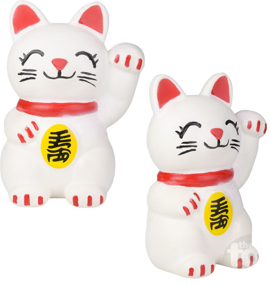 "11"" JUMBO LUCKY CAT SQUISH Fun! Swoop"