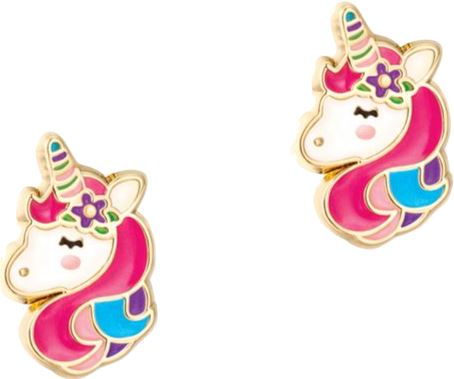 14K GOLD UNICORN DREAM STUD Accessories Swoop